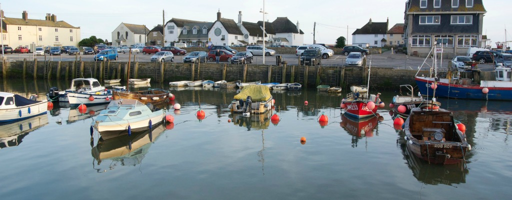 Harbour with Bridport arms