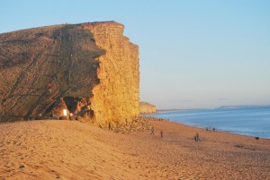 Climbing East Cliff at dusk