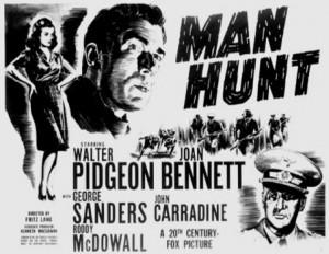 Manhunt Poster 1941