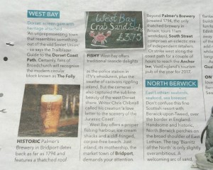 Waitrose Weekend 6th July West Bay