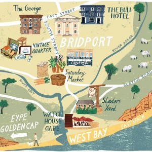 Tom Jays Bridport map