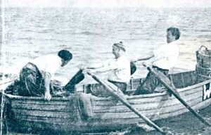 Old fishing picture from Bridport museum