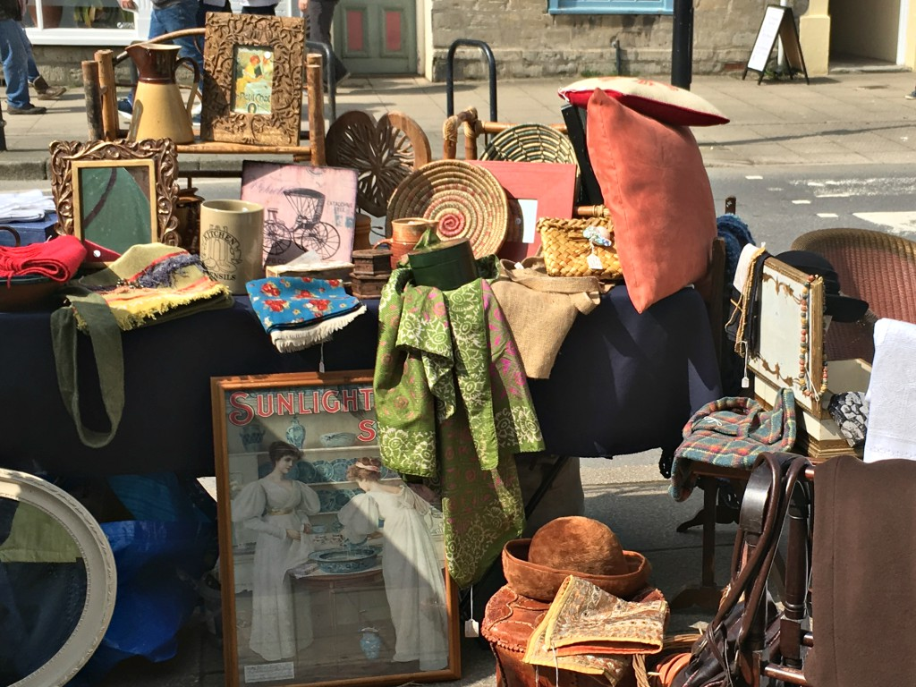 A stall at Bridport's street market