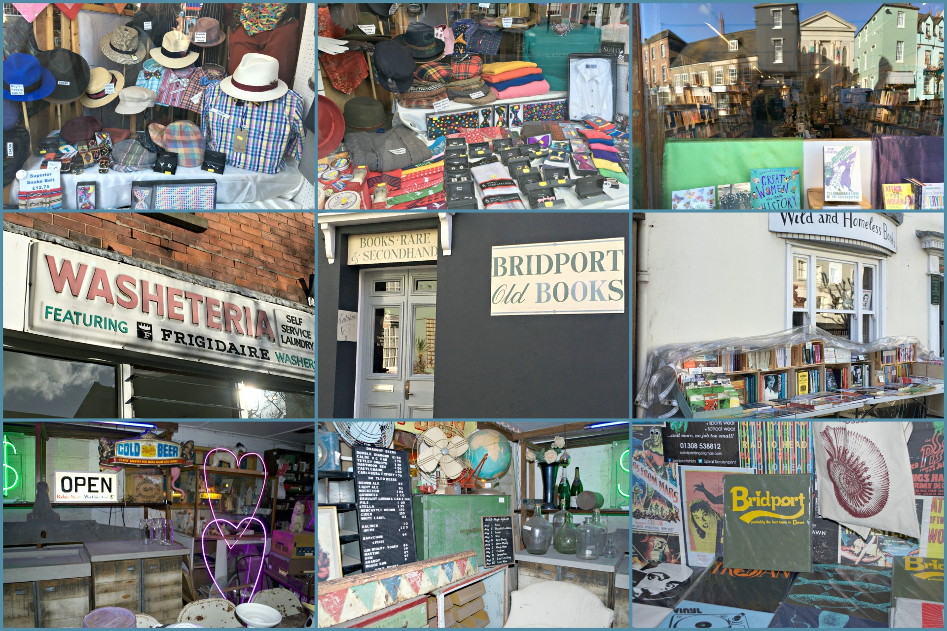 Some of the great shops in Bridport