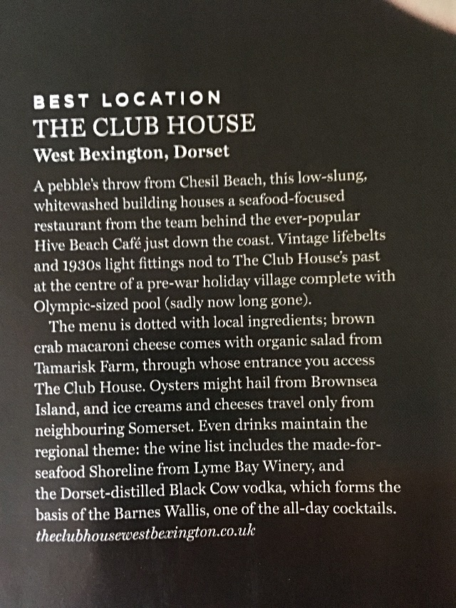 Waitrose Food Magazine - Club House Write Up