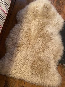 Our lovely sheepskin rug
